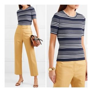 🆕FRAME Stripe Ribbed Knit Top/Sz:S/P/NWT